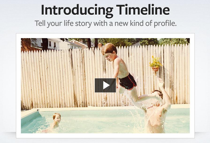 Time Line برای صفحات در فیس بوک