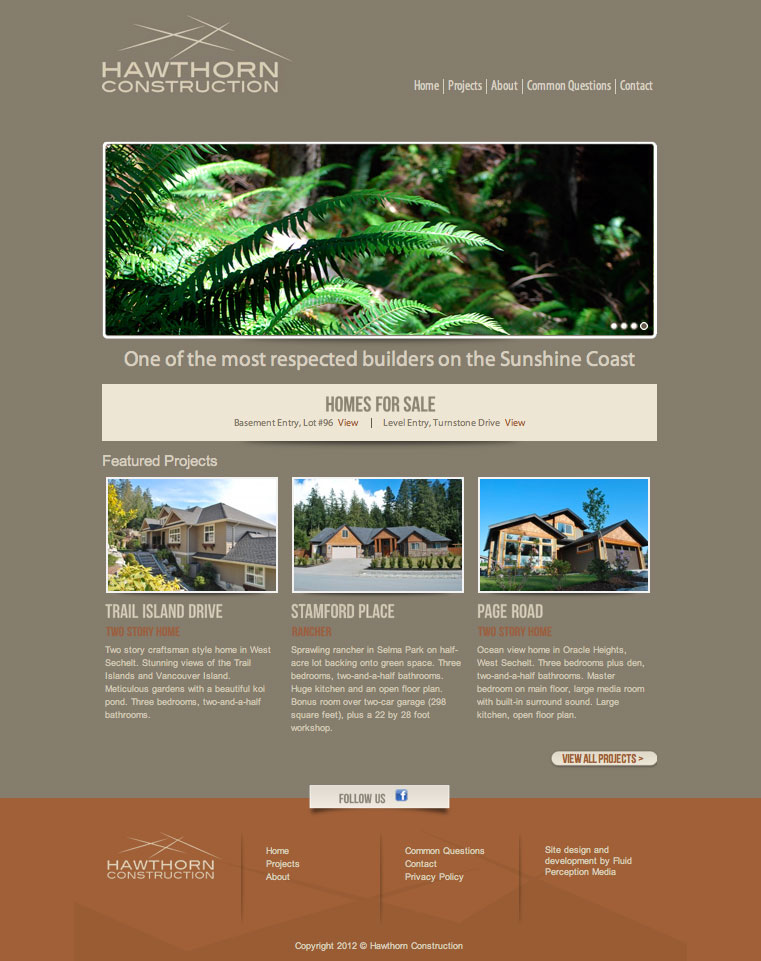 Hawthorn Construction Homepage image